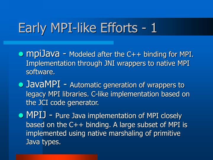 Early MPI-like Efforts - 1