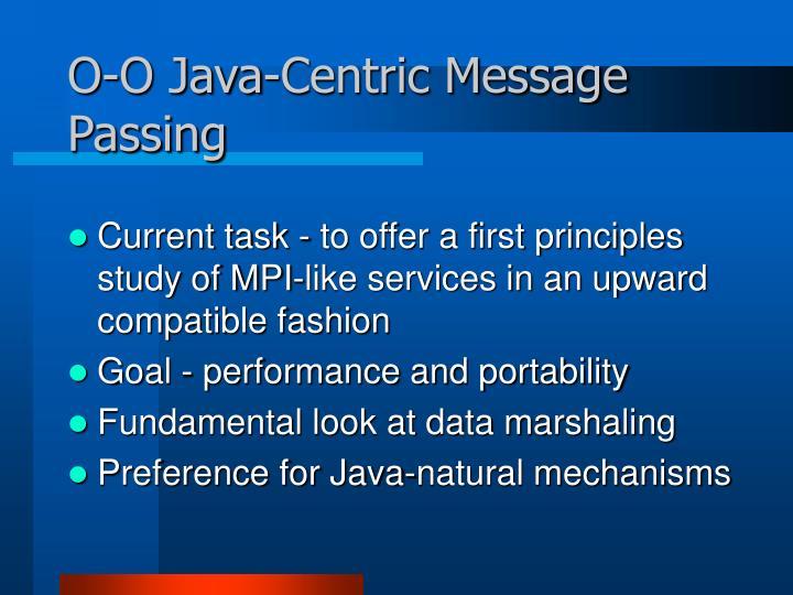 O-O Java-Centric Message Passing