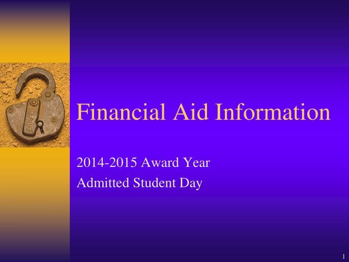 financial aid information