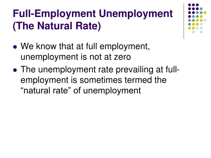 Full-Employment Unemployment (The Natural Rate)