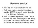 receiver section