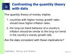 confronting the quantity theory with data