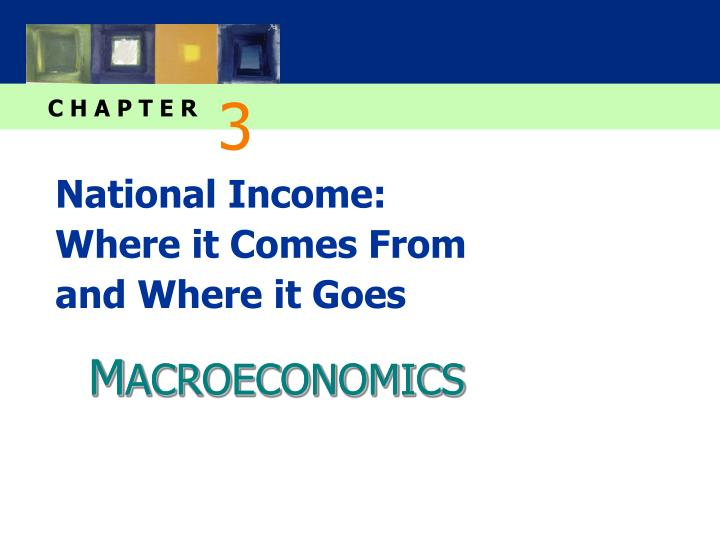 national income where it comes from and where it goes n.