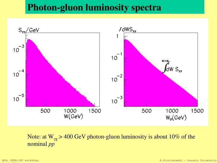 Photon-gluon luminosity spectra