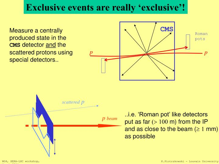 Exclusive events are really 'exclusive'!