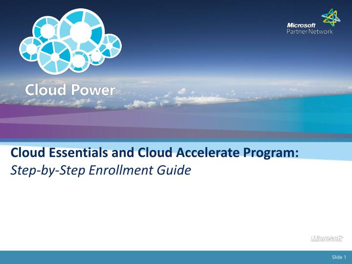 Cloud Essentials and Cloud Accelerate Program: