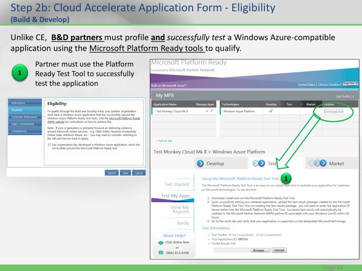 Step 2b: Cloud Accelerate Application Form - Eligibility