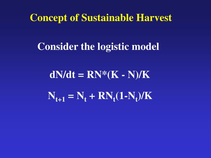 Concept of Sustainable Harvest