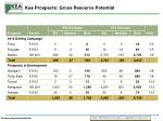 kea prospects gross resource potential