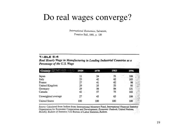 Do real wages converge?