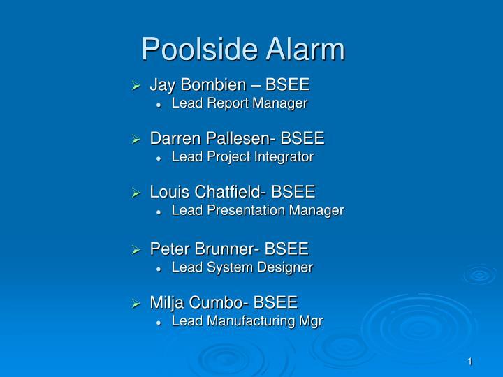 poolside alarm n.