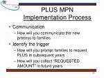 plus mpn implementation process1