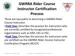 gwrra rider course instructor certification process
