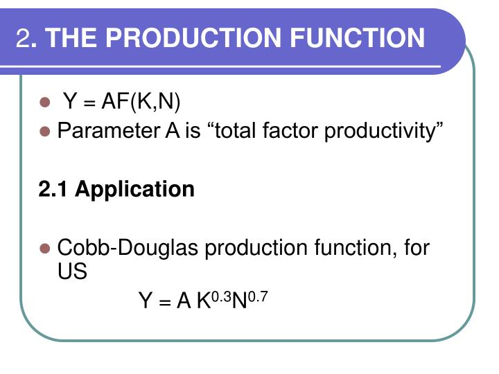 2 the production function