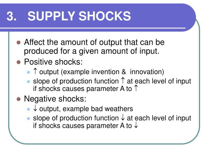 3.SUPPLY SHOCKS