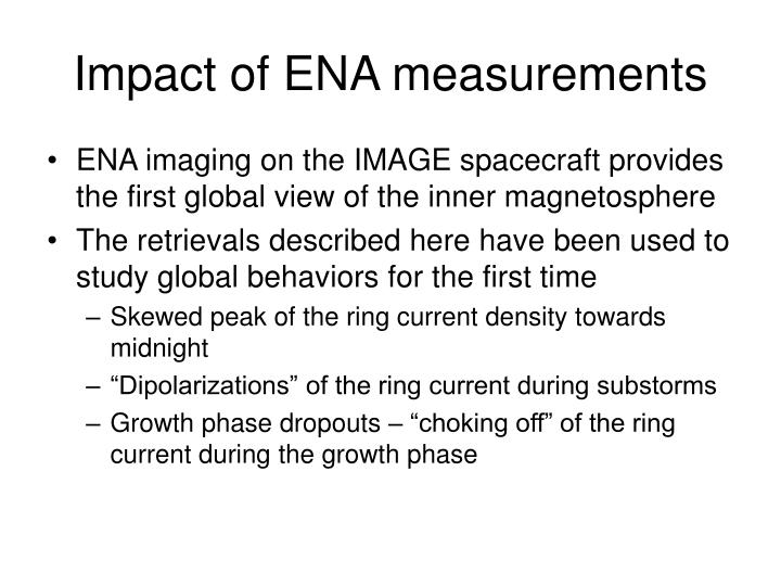 Impact of ENA measurements