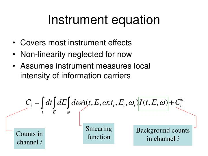 Instrument equation