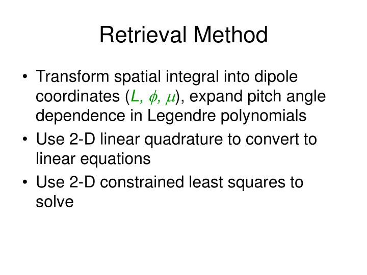 Retrieval Method