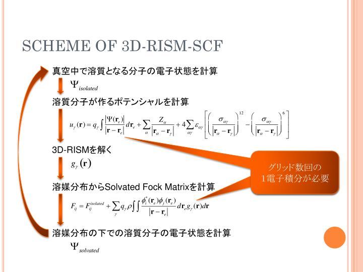 SCHEME OF 3D-RISM-SCF
