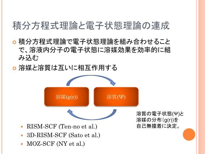 積分方程式理論と電子状態理論の連成