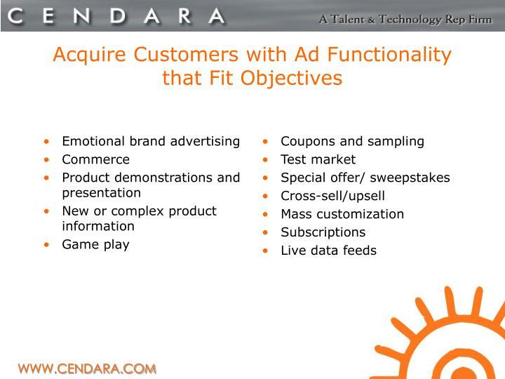 Emotional brand advertising