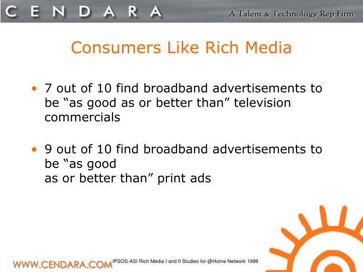 Consumers Like Rich Media