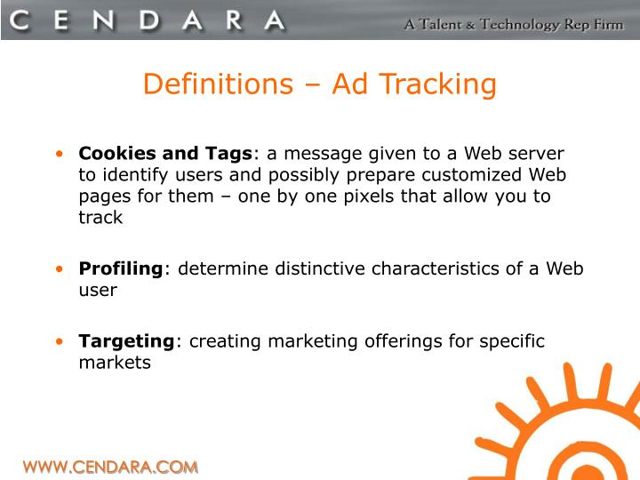Definitions – Ad Tracking