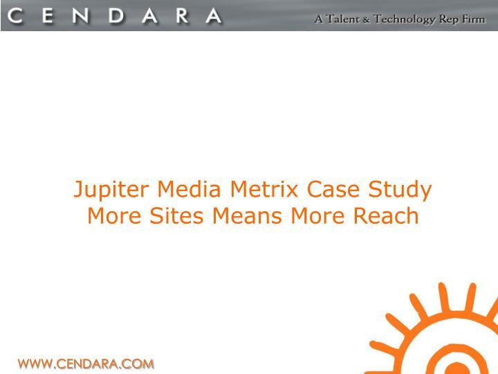 Jupiter Media Metrix Case Study
