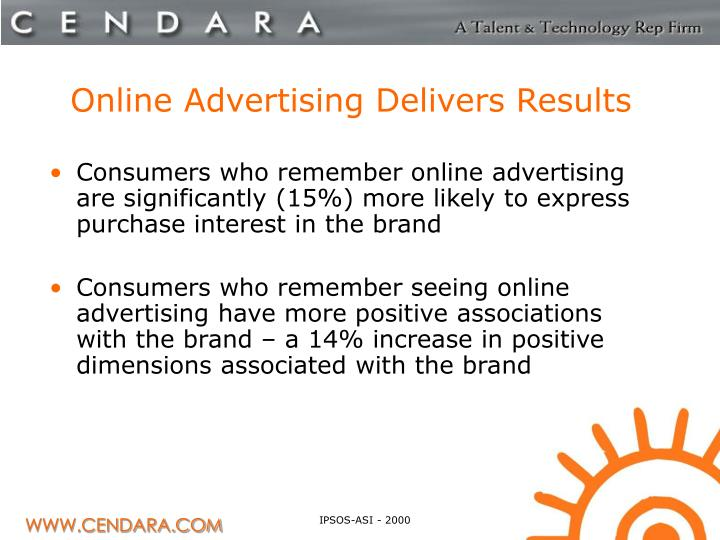 Online Advertising Delivers Results