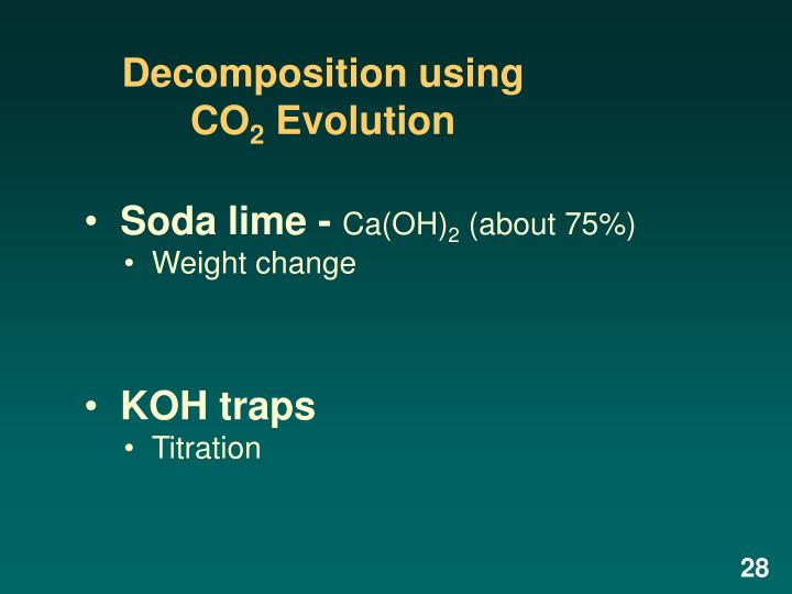 Decomposition using