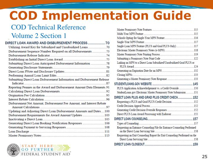COD Implementation Guide