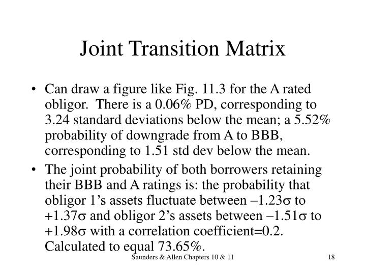 Joint Transition Matrix