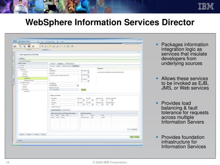 WebSphere Information Services Director