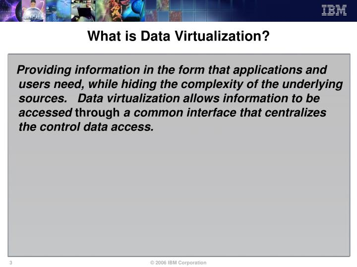 What is data virtualization