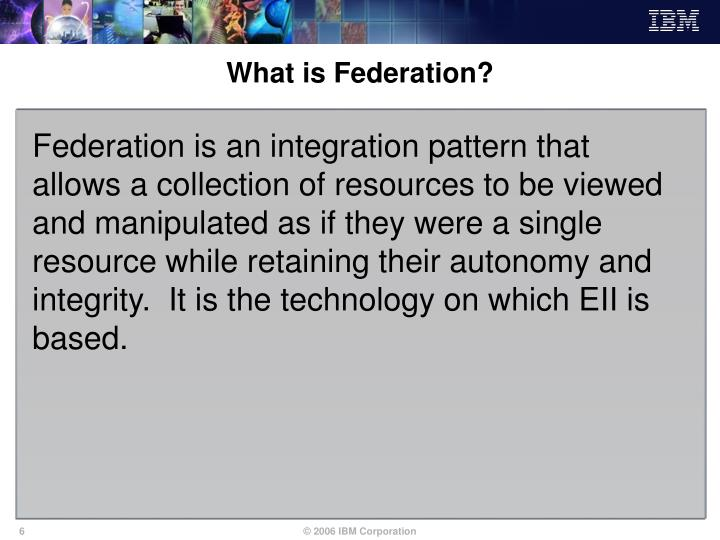 What is Federation?