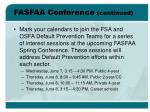 fasfaa conference continued