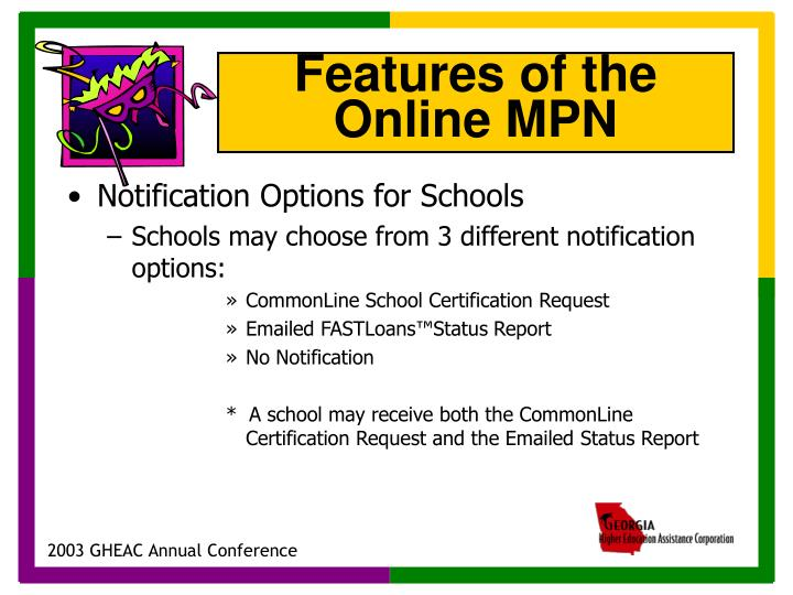 Notification Options for Schools