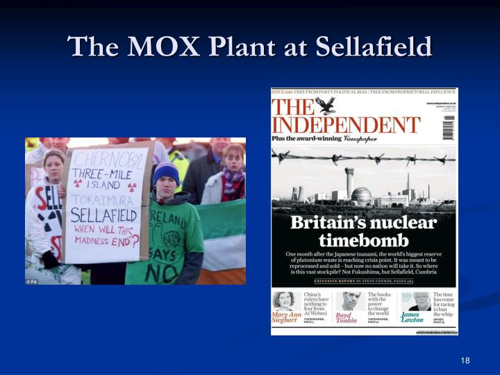 The MOX Plant at Sellafield