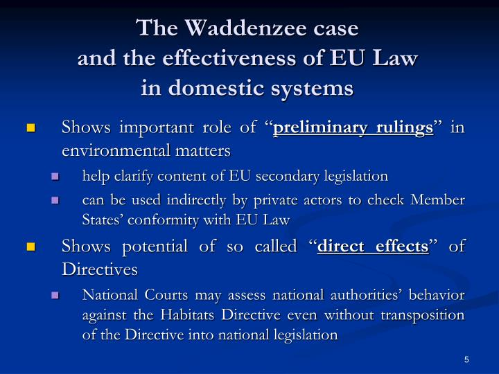 The Waddenzee case