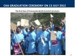 cha graduation ceremony on 13 july 20121
