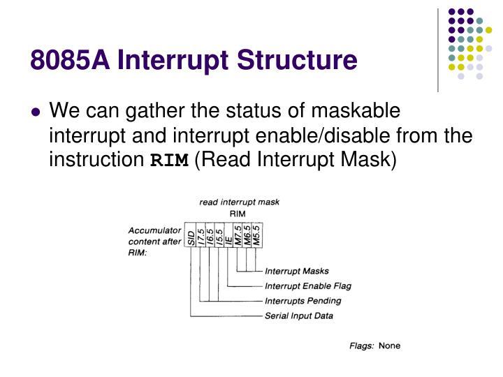8085A Interrupt Structure