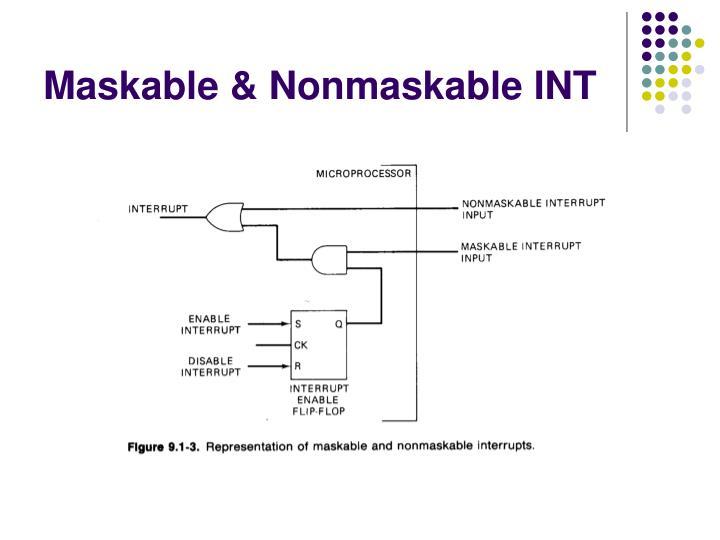 Maskable & Nonmaskable INT