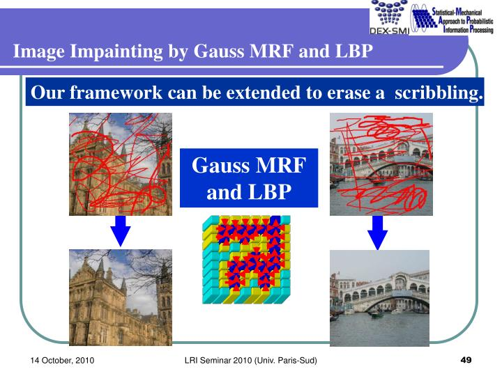 Image Impainting by Gauss MRF and LBP