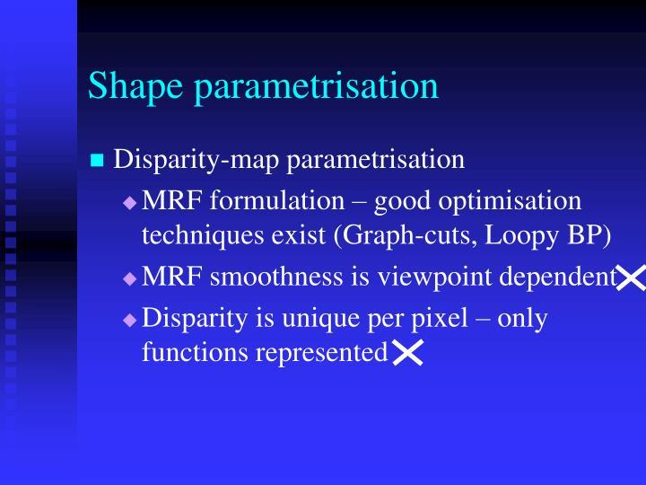 Shape parametrisation