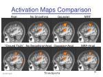 activation maps comparison