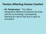 factors affecting human comfort1