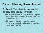 factors affecting human comfort2