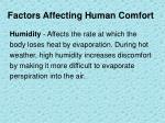 factors affecting human comfort3