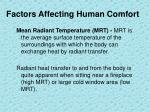 factors affecting human comfort4