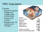 hrv calculation